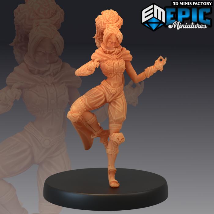 Monk Adventurer Meditating des Legendary Tournament créé par Epic Miniatures de 3D Minis Factory