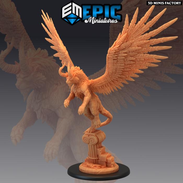 White Tiger of the West Pillar des Legendary Tournament créé par Epic Miniatures de 3D Minis Factory