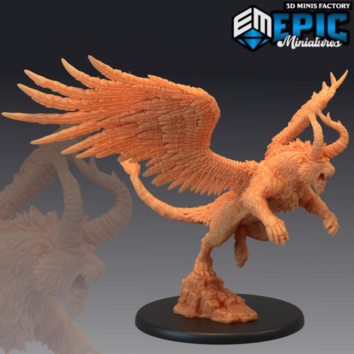 White Tiger of the West Attacking des Legendary Tournament créé par Epic Miniatures de 3D Minis Factory