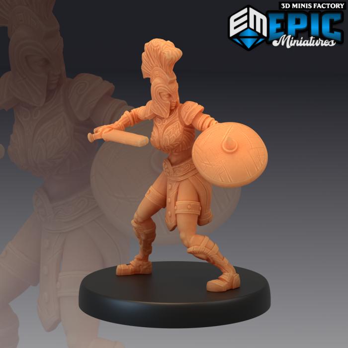 Gladiator Female Sword des Legendary Tournament créé par Epic Miniatures de 3D Minis Factory