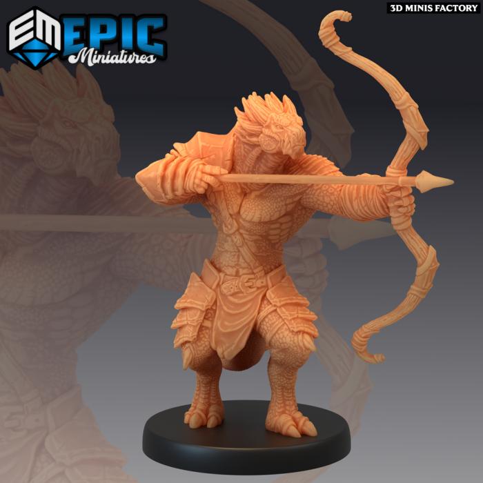 Dragonborn Archer & Archery Target des Legendary Tournament créé par Epic Miniatures de 3D Minis Factory