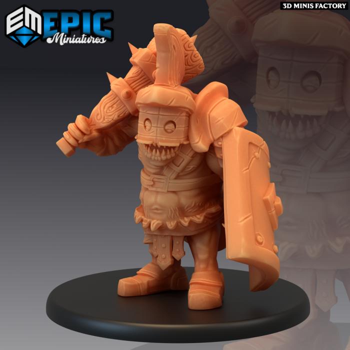 Ogre Gladiator des Legendary Tournament créé par Epic Miniatures de 3D Minis Factory