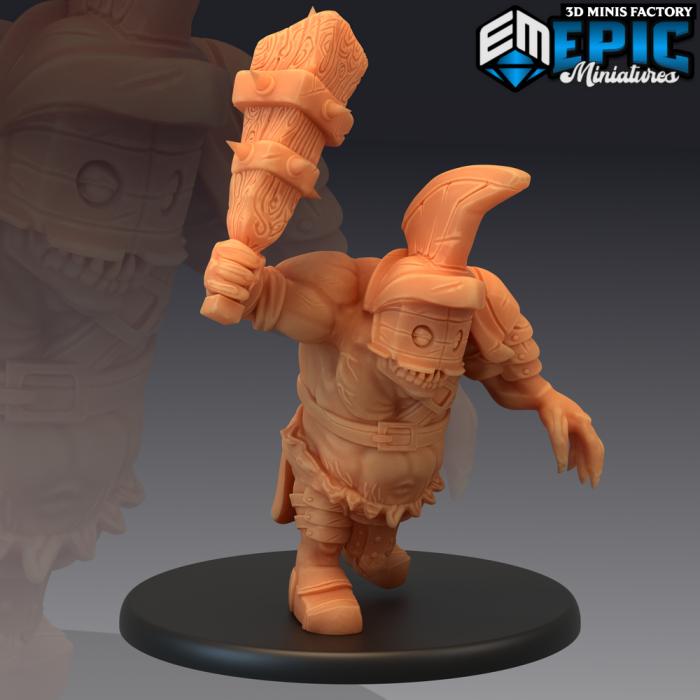 Ogre Gladiator Attacking des Legendary Tournament créé par Epic Miniatures de 3D Minis Factory