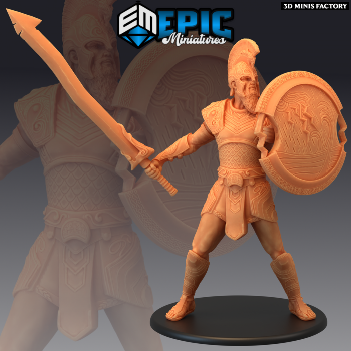 Storm Giant Warrior des Legendary Tournament créé par Epic Miniatures de 3D Minis Factory