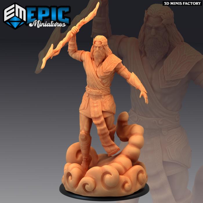 Storm Giant Lord Thunder des Legendary Tournament créé par Epic Miniatures de 3D Minis Factory