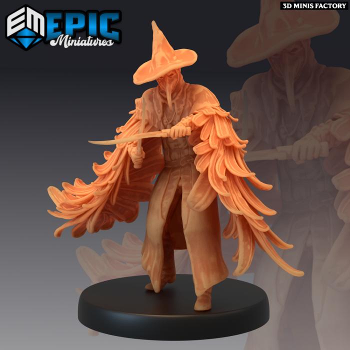 Plague Doctor Fighting des Fallen Sanctuary créé par Epic Miniatures de 3D Minis Factory