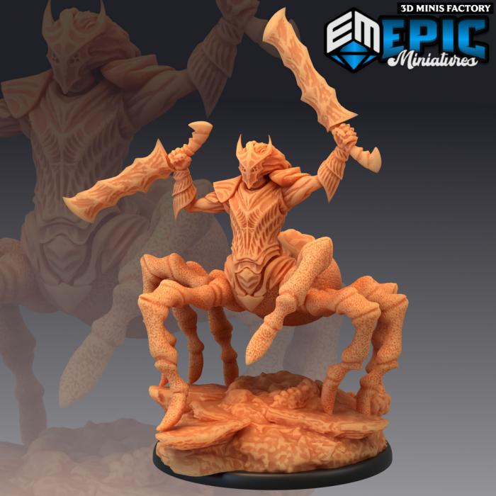 Dark Elf Spider Armored des Fallen Sanctuary créé par Epic Miniatures de 3D Minis Factory