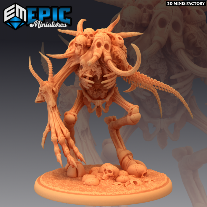 Bone Golem des Fallen Sanctuary créé par Epic Miniatures de 3D Minis Factory