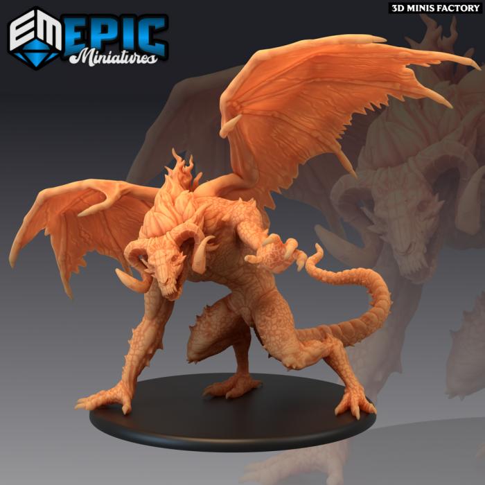 Fire Devil des Fallen Sanctuary créé par Epic Miniatures de 3D Minis Factory
