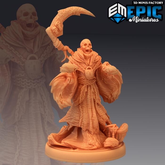 Reaper Magic des Fallen Sanctuary créé par Epic Miniatures de 3D Minis Factory