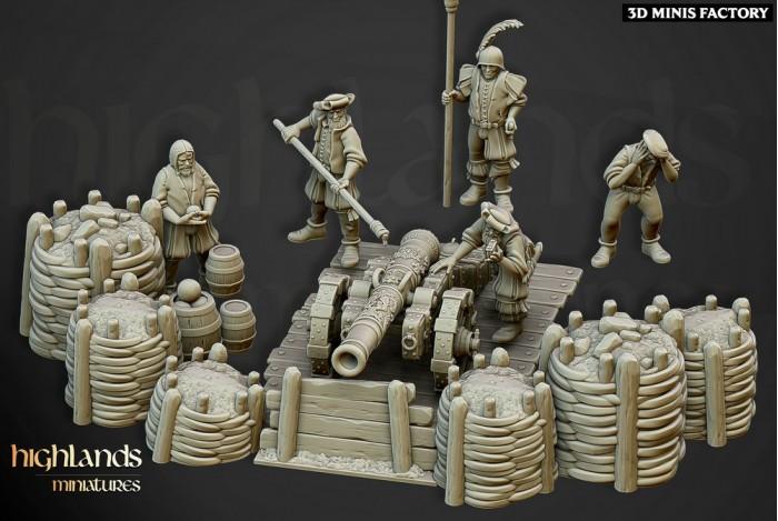 Canon du Sunland Empire des Sunland Empire créé par Highlands Miniatures de 3D Minis Factory