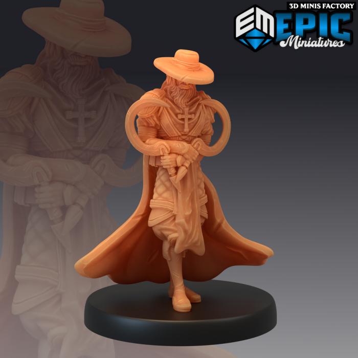 Van Helsing Intimidating des Fallen Sanctuary créé par Epic Miniatures de 3D Minis Factory