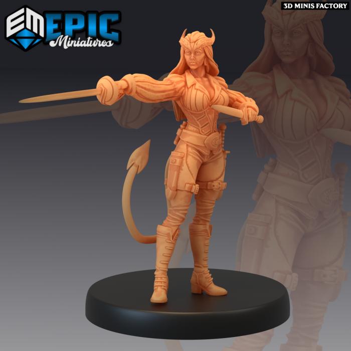 Devilkin Female Rapier - 2 Variations (Medium) des Fallen Sanctuary créé par Epic Miniatures de 3D Minis Factory