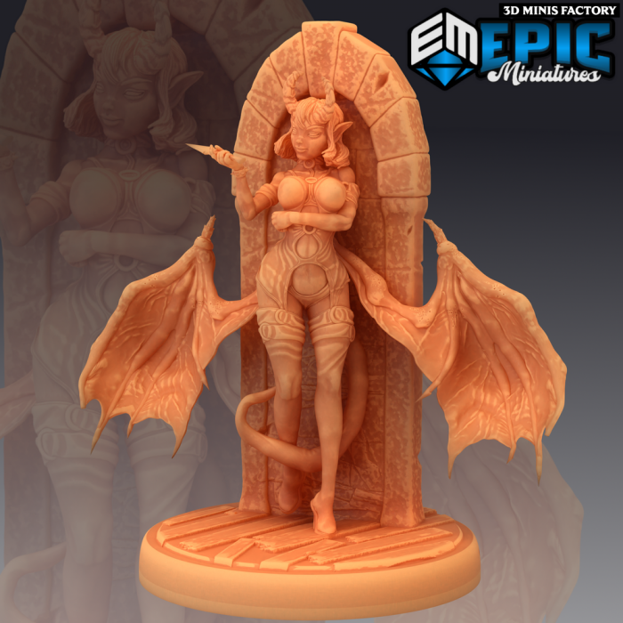 Succubus Knife des Fallen Sanctuary créé par Epic Miniatures de 3D Minis Factory