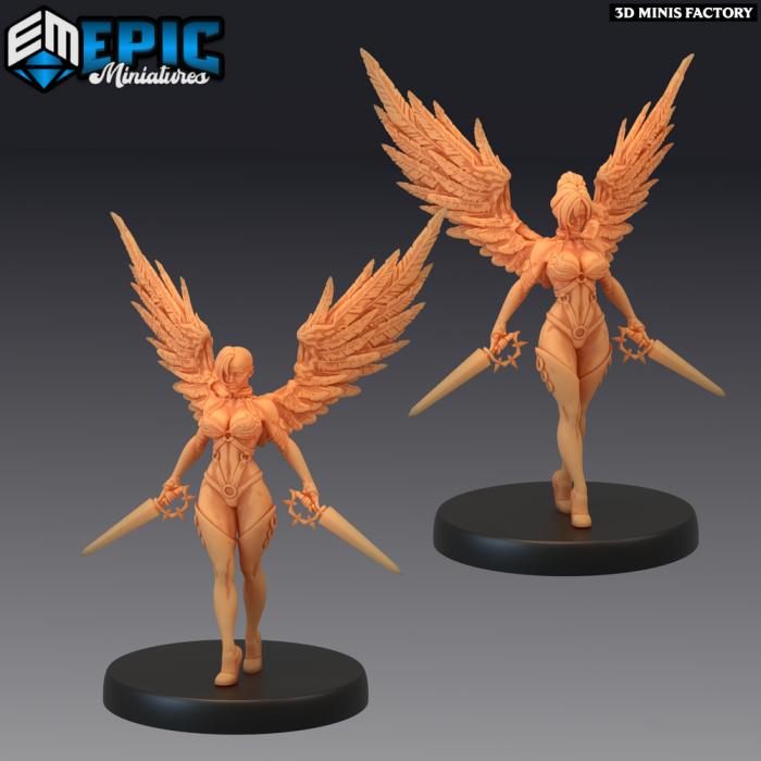 Fallen Angel Sword - 2 Variations (Medium) des Fallen Sanctuary créé par Epic Miniatures de 3D Minis Factory