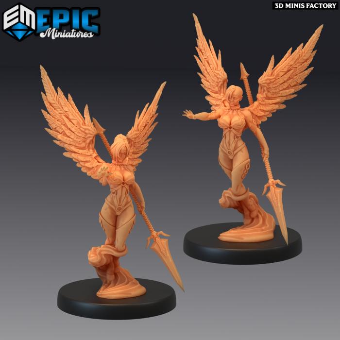 Fallen Angel Attacking - 2 Variations (Medium) des Fallen Sanctuary créé par Epic Miniatures de 3D Minis Factory