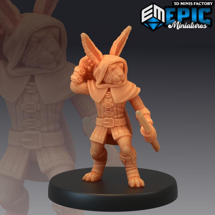 Bunny Archer des Rodent Wars créé par Epic Miniatures de 3D Minis Factory