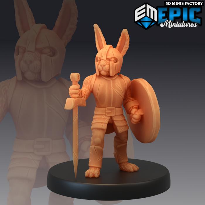 Bunny Knight des Rodent Wars créé par Epic Miniatures de 3D Minis Factory