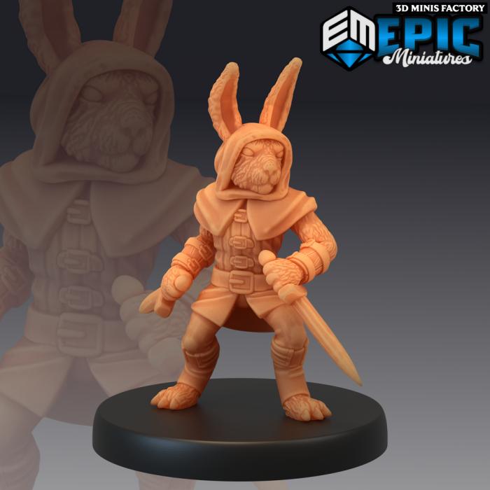 Bunny Rogue des Rodent Wars créé par Epic Miniatures de 3D Minis Factory