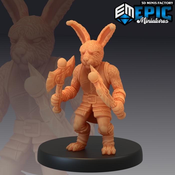 Bunny Brute des Rodent Wars créé par Epic Miniatures de 3D Minis Factory