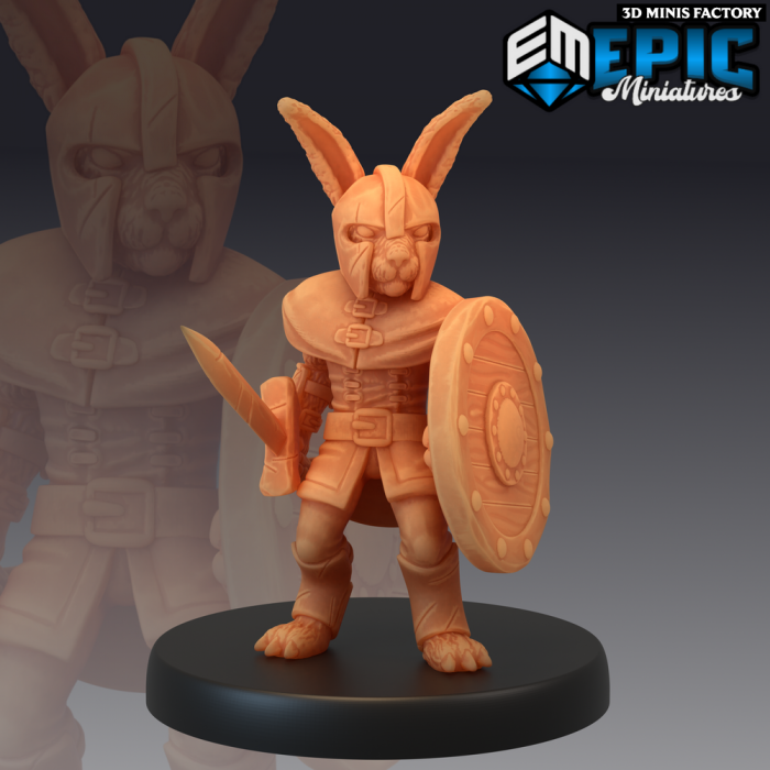 Bunny Soldier des Rodent Wars créé par Epic Miniatures de 3D Minis Factory