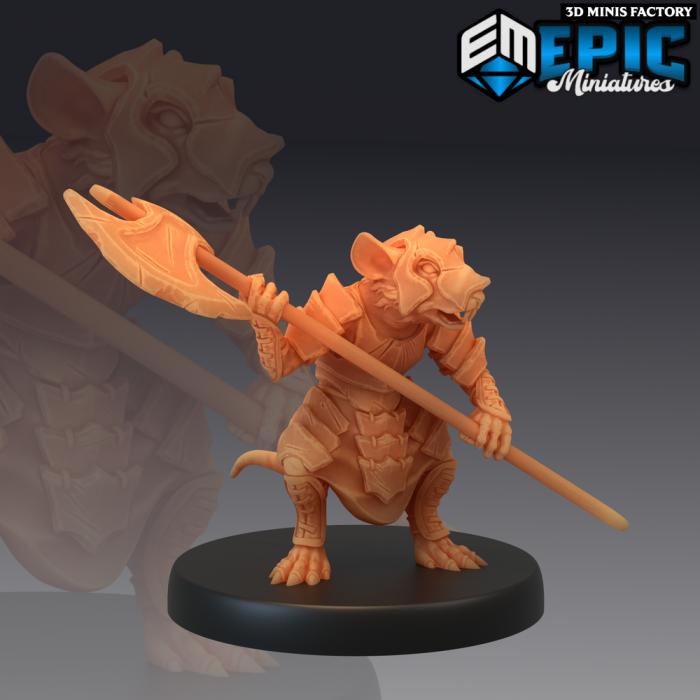 Rat Guard des Rodent Wars créé par Epic Miniatures de 3D Minis Factory