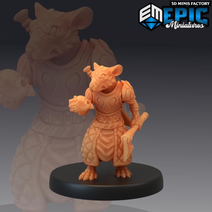 Rat Executioner des Rodent Wars créé par Epic Miniatures de 3D Minis Factory