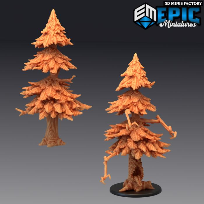Mimic Tree Big - 2 Variants des Rodent Wars créé par Epic Miniatures de 3D Minis Factory