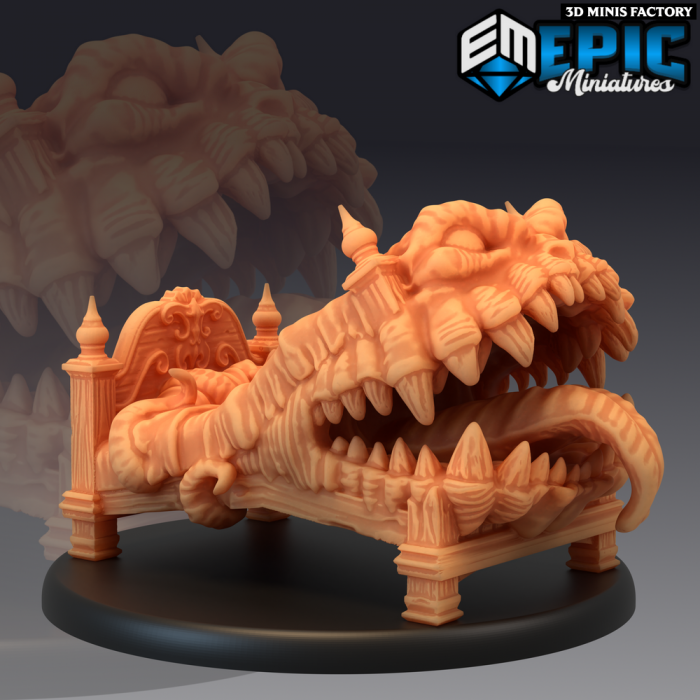 Mimic Bed - 2 Variants des Rodent Wars créé par Epic Miniatures de 3D Minis Factory