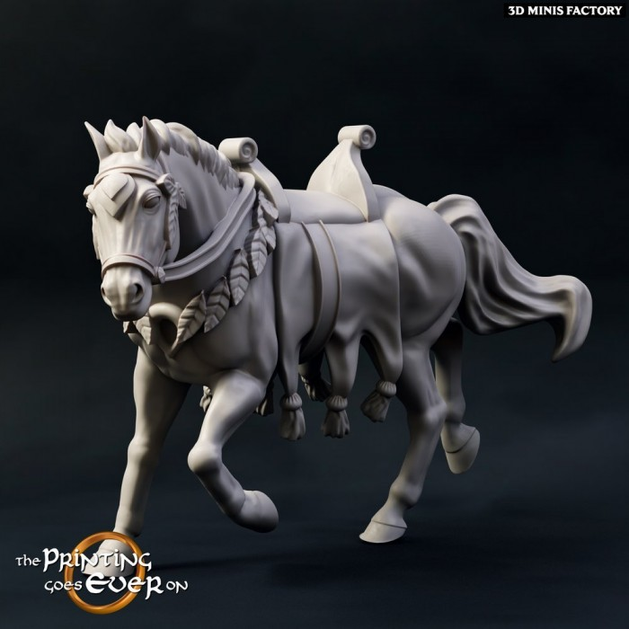 Brightwood Horse des Chapter 9 - Elves of Brightwood créé par The Printing Goes On de 3D Minis Factory