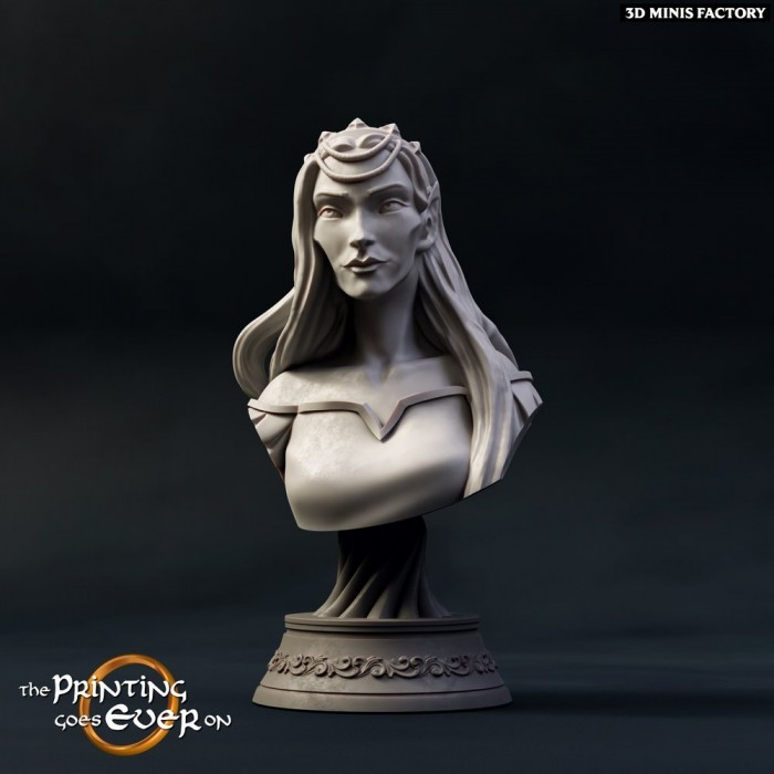Busts Queen Gladhiel - 2 Variations  des The Printing Goes Ever On - Figs Collection créé par The Printing Goes On de 3D Mini...