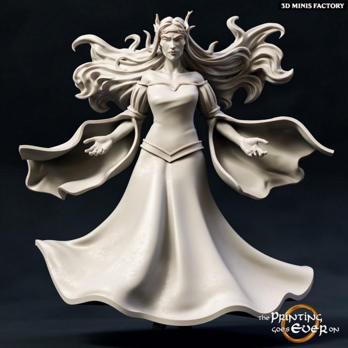 Elven Witch des Chapter 9 - Elves of Brightwood créé par The Printing Goes On de 3D Minis Factory