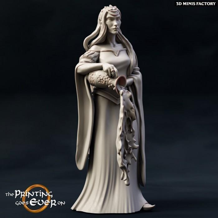 Queen Gladhiel des Chapter 9 - Elves of Brightwood créé par The Printing Goes On de 3D Minis Factory