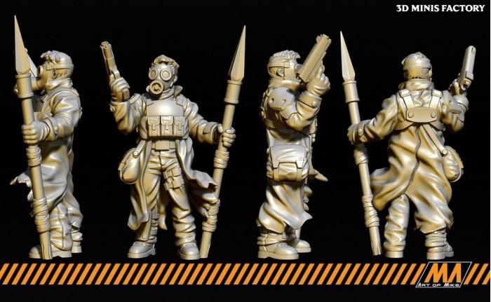 Apocalypse Survivor 01 des Apocalypse Survivor créé par Art of Mike de 3D Minis Factory