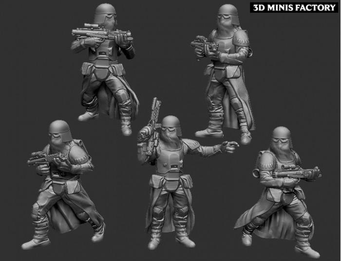 Troopers Snow des Empire créé par Warblade Studio de 3D Minis Factory