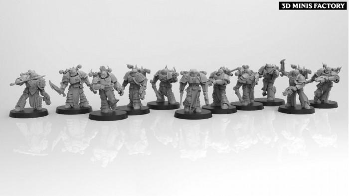 Kakophani Swordsmen des Perfect Sons (Adeptus Astartes) créé par ThatEvilOne de 3D Minis Factory