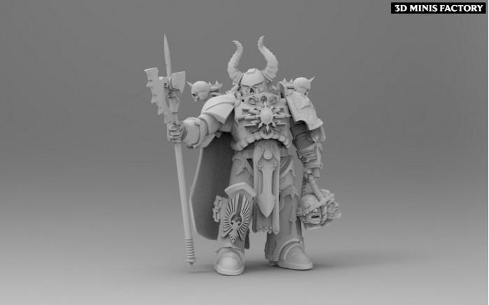 The Court of the Ashen Phoenican-Executioner des Perfect Sons (Adeptus Astartes) créé par ThatEvilOne de 3D Minis Factory