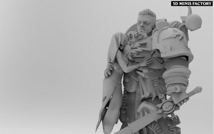 The Court of the Ashen Phoenican-Warlock des Perfect Sons (Adeptus Astartes) créé par ThatEvilOne de 3D Minis Factory