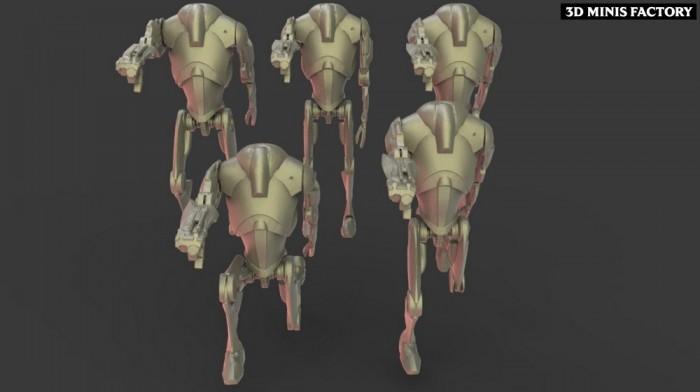 B2 Super Batte Droid des Separatist Alliance créé par Warblade Studio de 3D Minis Factory