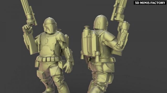 Bobba des Neutral Faction créé par Warblade Studio de 3D Minis Factory