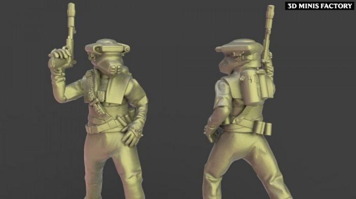 Leia des Rebel créé par Warblade Studio de 3D Minis Factory