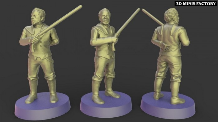 Dooku  des Empire créé par Warblade Studio de 3D Minis Factory