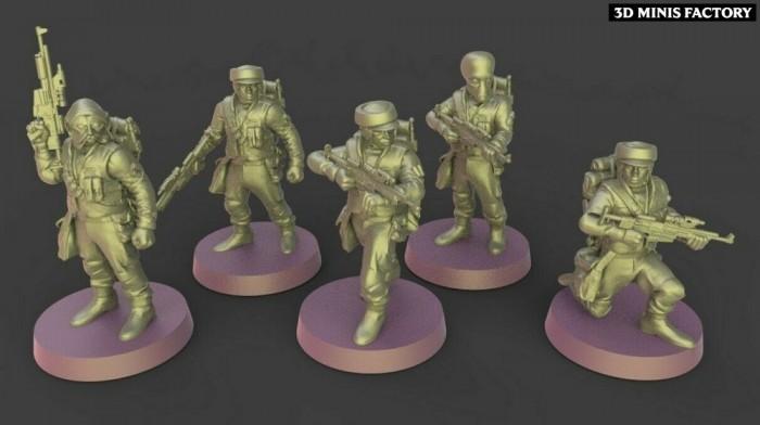 Rebels Squad des Rebel créé par Warblade Studio de 3D Minis Factory