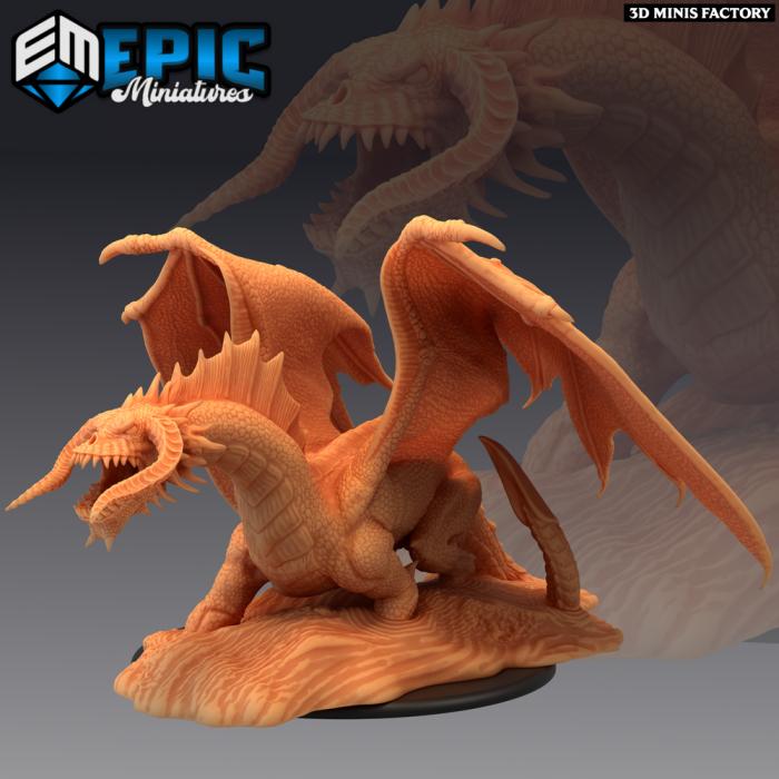 Black Dragon Ancient des Dark Swamp créé par Epic Miniatures de 3D Minis Factory