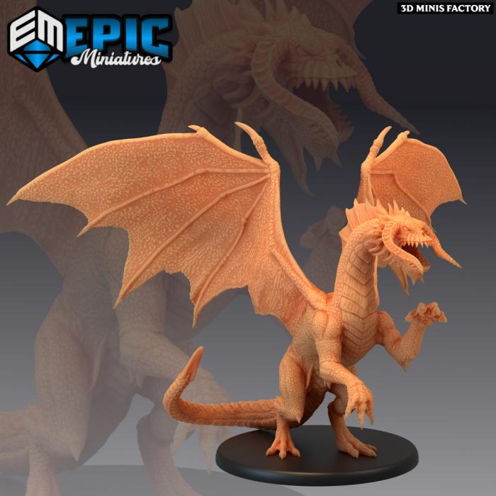 Black Dragon Young des Dark Swamp créé par Epic Miniatures de 3D Minis Factory