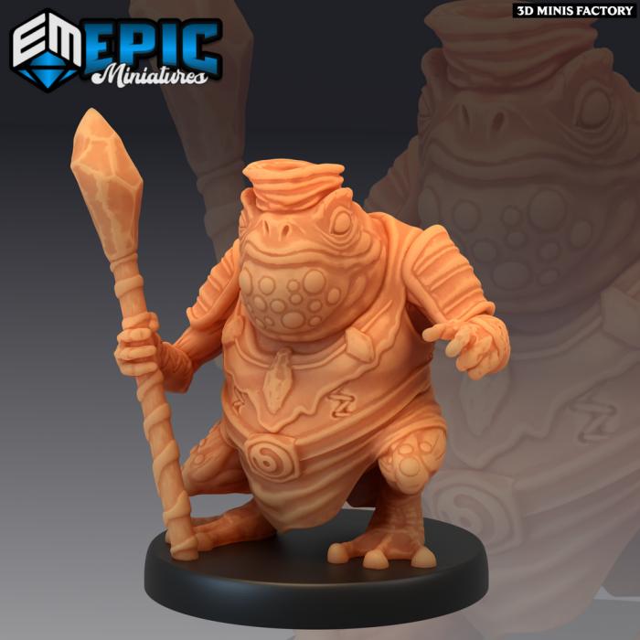 Toad Folk Shaman des Dark Swamp créé par Epic Miniatures de 3D Minis Factory