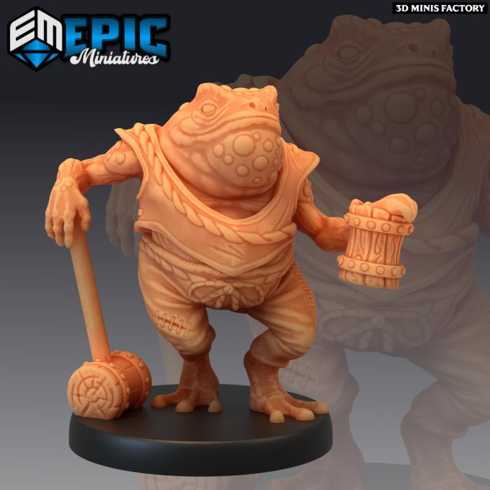 Toad Folk Drinking des Dark Swamp créé par Epic Miniatures de 3D Minis Factory