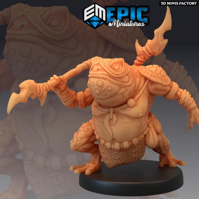 Toad Folk Spear des Dark Swamp créé par Epic Miniatures de 3D Minis Factory