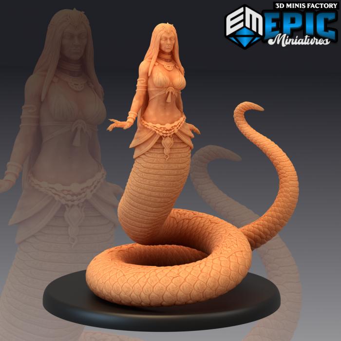 Lamia des Dark Swamp créé par Epic Miniatures de 3D Minis Factory