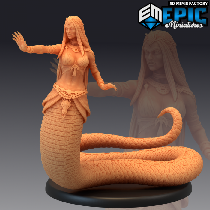 Lamia Magic des Dark Swamp créé par Epic Miniatures de 3D Minis Factory